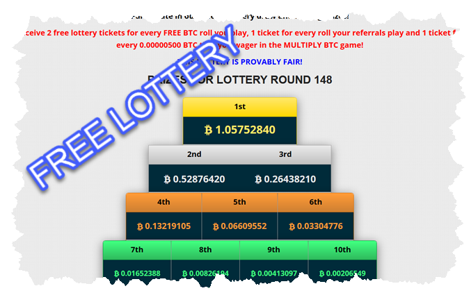 Weekly Bitcoin Lottery - Freee
